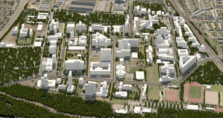 Quartierskarte Bürostadt Niederrad
