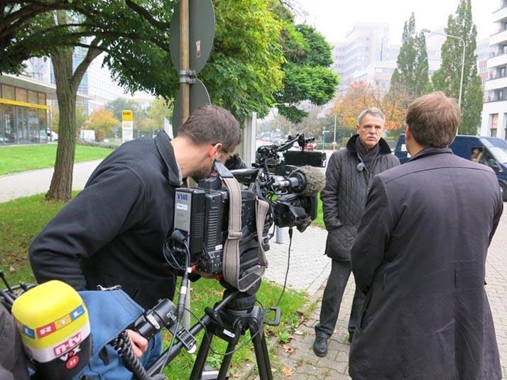 RTL-Dreh in der Bürostadt